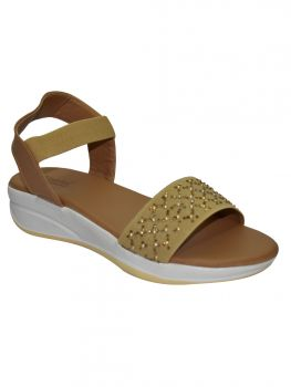 Ajanta Beige Color Synthetic Sandal Lb0798