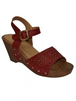 Ajanta Red Color Synthetic Sandal Lb0813