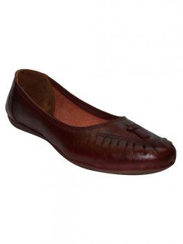 Freya Brown Color Synthetic Shoe Sl0746