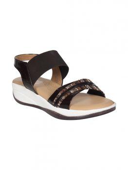 Freya Black Color Synthetic  Party Sandal LB0806