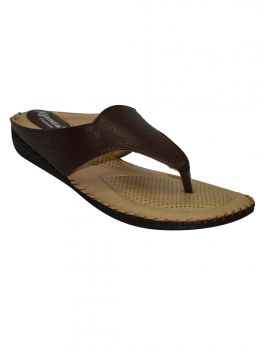 Freya Brown Color Synthetic Chappal Bl1308