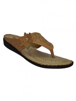 Freya Beige Color Synthetic Chappal Bl1317