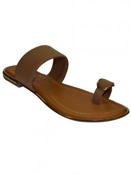 Ajanta Beige Color Synthetic Chappal Cl0789