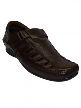 Imperio Brown Color Leather Sandal Gb0651