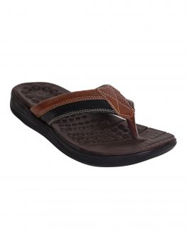 Impakto Brown Color Mens Soft Padded Chappal  FT0338