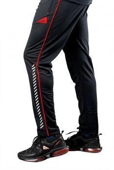 Impakto Men's Dry Fit Joggers -Black & Red
