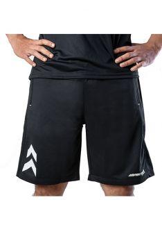 Impakto Men's Dry Fit Running Shorts -Black & White