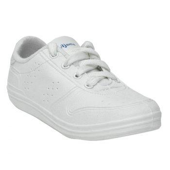 Skolar Kid's School Shoes For Boys - White