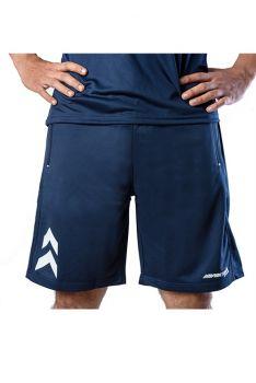 Impakto Men's Dry Fit Running Shorts -Blue & White