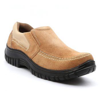 Ajanta Men's Casual Shoes - Beige & Black