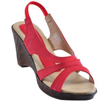 Ajanta Women's Formal Shoes - Red & Beige