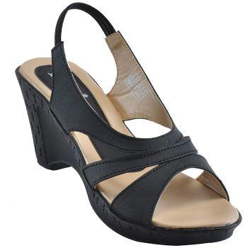 Ajanta Women's Formal Shoes - Black & Beige