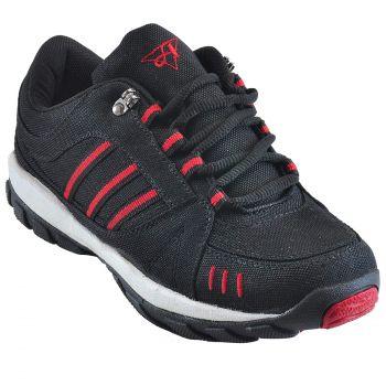 Ajanta Men's Sports Shoes - Black & Red