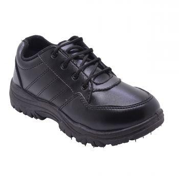 Skolar Kid's School Shoes With Lace - Black