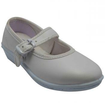 Skolar Kid's Formal Shoes For Girls - White