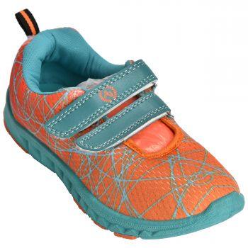 Ajanta Women's Casual Shoes - Orange & Sea Green