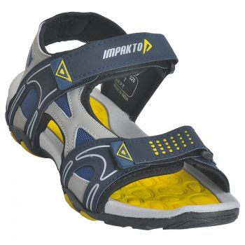 Impakto Men's Sports Sandals - Blue & Yellow