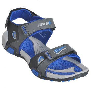 Impakto Men's Sports Sandals - Blue & Grey