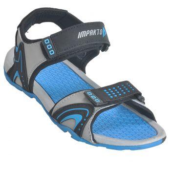 Impakto Women's Sports Sandals - Black & Blue