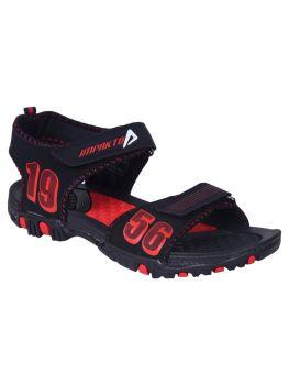 Impakto Men's Sports Sandals - Red & Black