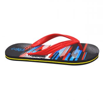 Ajanta Colors Men's Flip Flops - Red