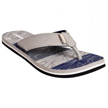 Ajanta Impakto Men's Flip Flops - Grey & Blue