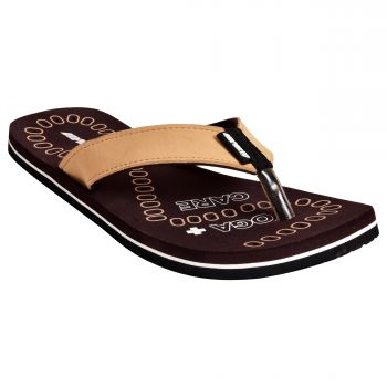 Ajanta Impakto Men's Flip Flops - Brown