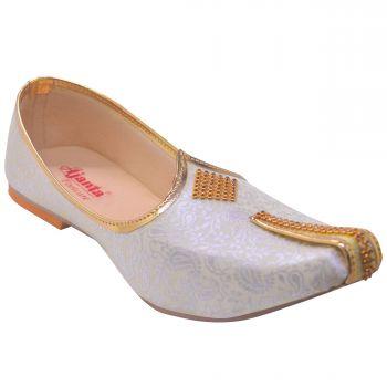 Ajanta Men's Nagra Shoes - White