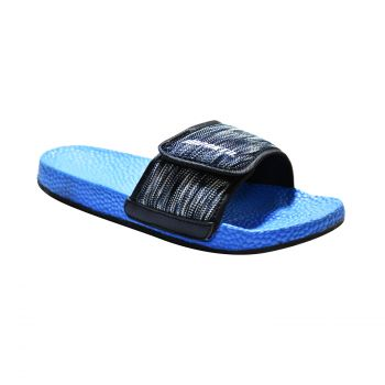 Impakto Men's Slippers - Black & Blue