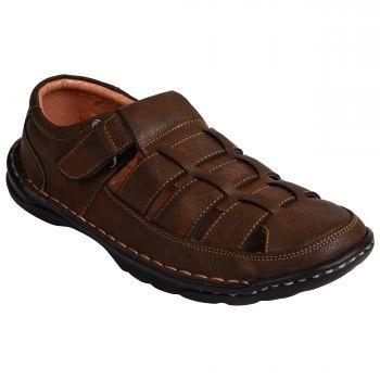 Ajanta Imperio Men's Casual Sandals - Brown