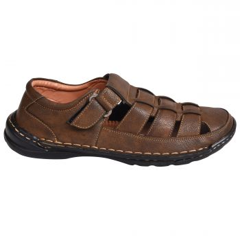 Ajanta Imperio Men's Casual Sandals - Brown