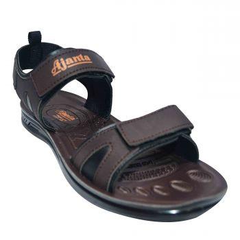 Ajanta Men's Sports Floater Sandals - Brown