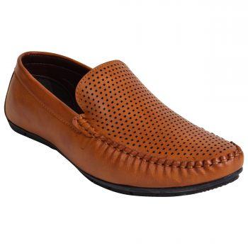 Imperio Tan Color Synthetic Shoe Slipon Jg1009