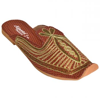 Ajanta Men's Nagra Shoes - Maroon