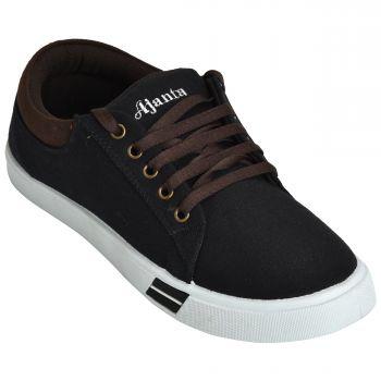 Ajanta Men's Casual Shoes - Black