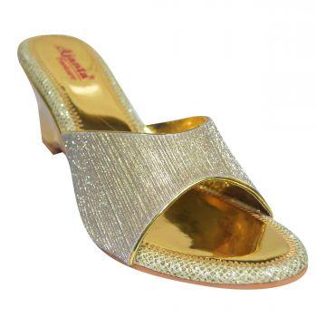 Ajanta Women's Ethnic Sandals - Gold