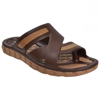 Fit & Style Classy Sandal Slippers - Brown