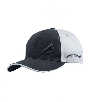 Impakto Unisex High Density Embroidery Cap- Black & Grey