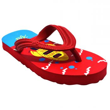 Ajanta Kid's Flip Flops - Red