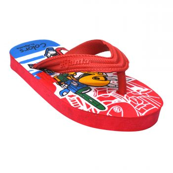 Ajanta Colors Kid's Flip Flops - Red