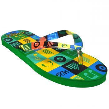 Ajanta Colors Kid's Flip Flops - Green