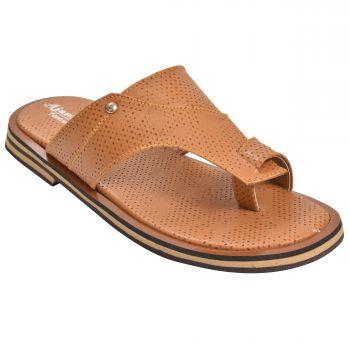 Ajanta Kid's Sandals For Boys - Tan