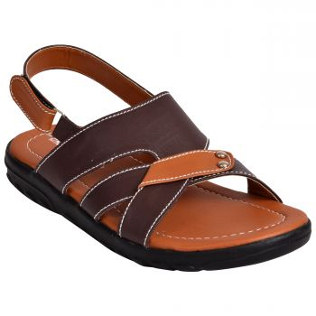 Ajanta Kid's Sandals For Boys - Brown
